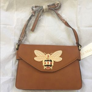 Bee Envelope Bag/Bag Charm